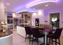 LED Lighting Kitchen Island Interior Design Weybridge