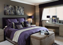 Contemporary bedroom design in period home