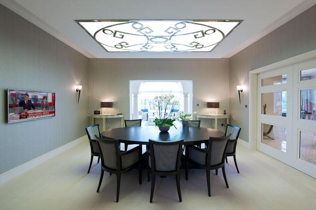 Interior design in dining room
